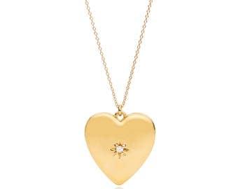 "Heart Locket Vintage Inspired Gold ""Anouk"""