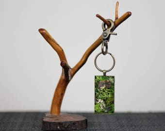 Mossy forest keychain