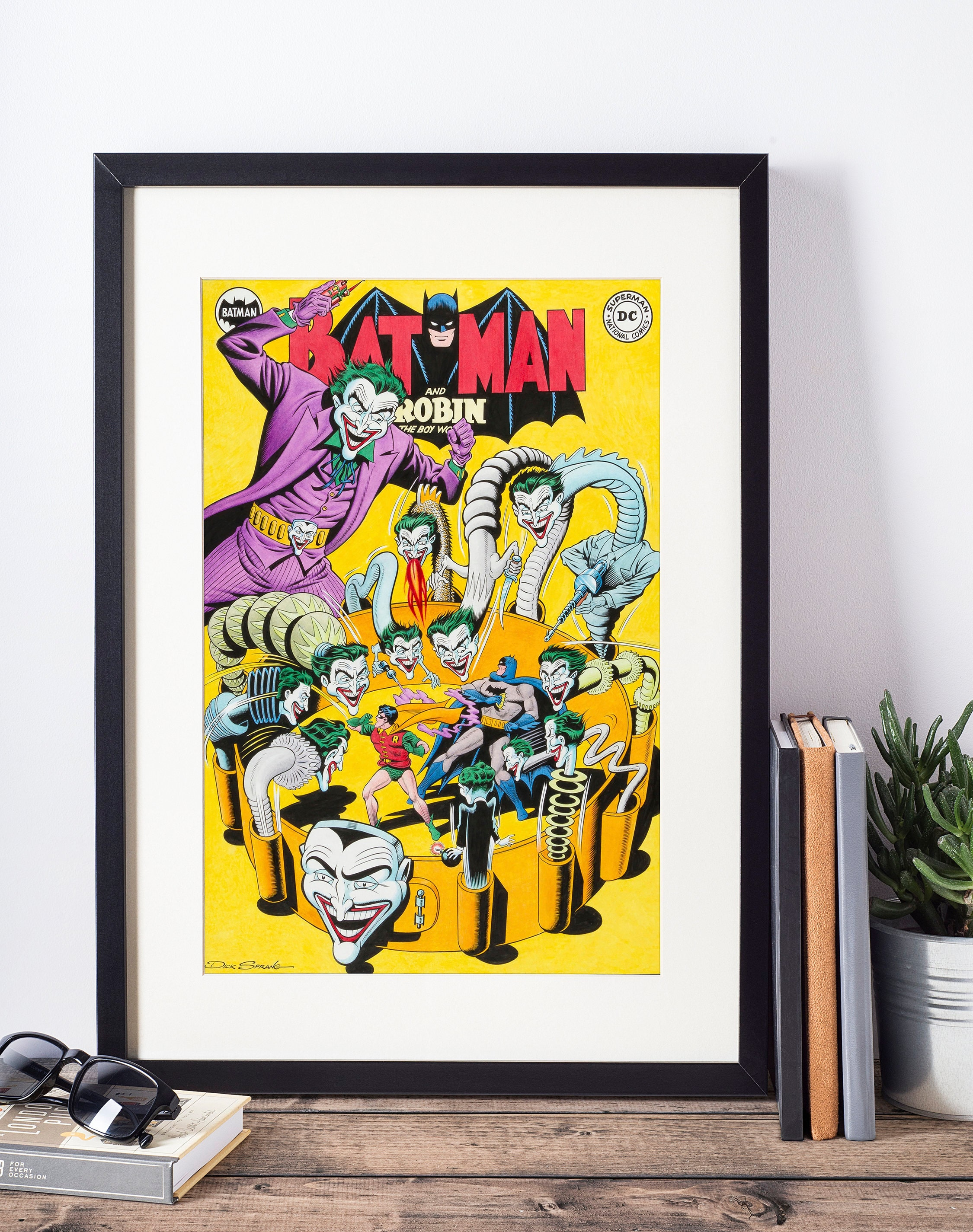 Dc Comics Wall Art dc comics wall art - batman and the joker cover print - matted and