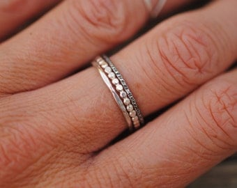 Set of 3 Stacker Rings | Sterling Silver