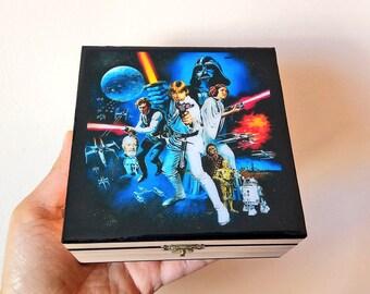 Star Wars, Box, wood, resin, films, video games, gift, birthday, present