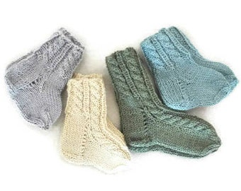 ALPACA SILK baby socks, Hand knit baby socks, knit baby socks, newborn socks, baby newborn gift