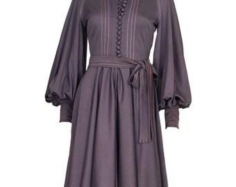 A vintage 1960/ 1970s Jean Varon Jersey mini button front Dress s - m