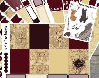Marauders // Deluxe 8 Page Harry Potter Inspired Weekly Planner Sticker Kit Perfect for Erin Condren Or Happy Planners // FK02