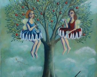 Drinking Tea in the Apple Tree