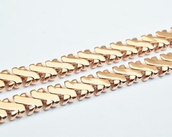 "18K Rose Gold Filled Chain 19"" Inches Long 5mm width 2mm Thickness CG227"