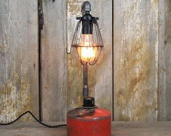 Industrial Table Lamp - Railway Smudge Pot Lamp #80