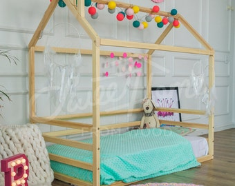 toddler bed house bed wood house children bed frame bed