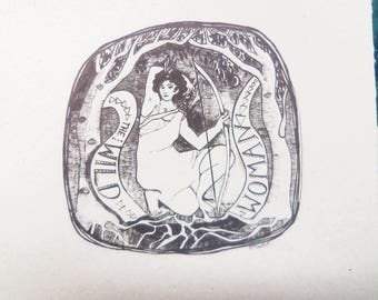 NEW* Wild Woman, original screenprint, limited edition, Art