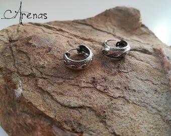 Silver Hoops - Silver Earings - Hoops Tribal - Hoops Earrings - Hoop Earring - Boho Hoop - Ethnic Hoop - Wave Hoop