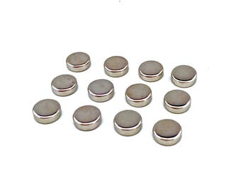 Flat Head Rivets SILVER / Silver Rivets / Nickel Rivets / 10mm Rivets / Flat Rivets / Flat Studs / Jewelry Rivets / Leather Rivets / PACK 12