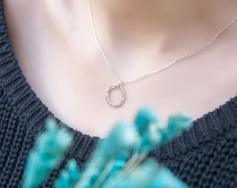 Hoop Neclace • Gifts For Her • Sterling Silver Circle Necklace • Necklace For Women • Birthday For Best Friends•Christmas Gifts