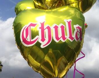 CHULA Sweetheart Heart Balloon | Mylar Balloon | Chingona | Girl Boss Fiesta | Birthday Balloon | Anniversary Balloon | Chicana