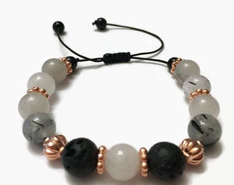 Yoga Bracelet | EO Jewelry | Essential Oil Bracelet | Lava Beads | Meditation | Adjustable Bracelet | Diffuser Bracelet | Yoga Jewelry