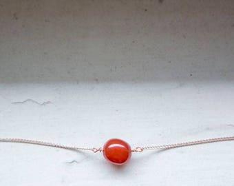 Fall Dainty Necklace, Raw Gem Choker, Dainty Personalized Gift, Virgo Jewelry, September Birthstone, Zodiac Choker, Unique Birthstone