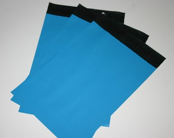 25 10x13 Poly Mailers Bright Blue Self Sealing Envelopes Shipping Bags