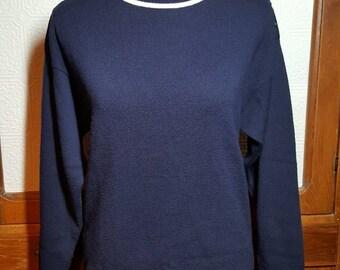 Vintage • Women's • Pendleton • 100% Virgin Wool • Blue • Sweater• Small
