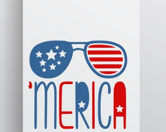 America SVG; Fourth of July SVG; Merica; America; Cricut Cut file; Silhouette Cut file; Cameo File; SVG file;