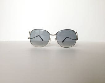Hoya Silver Square Eyeglasses Vintage Large sunglasses Japan designer glasses Oversize eyeglasses Low arm Retro frames Hipster glasses frame