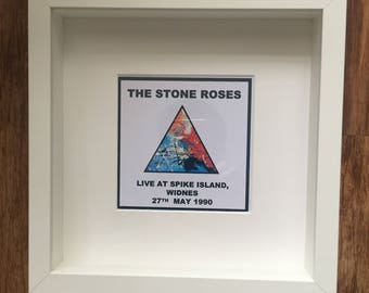 A piece of history 10 x 10 inch stone roses framed print spike island lemons manchester