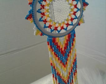 Hand Made Beaded Dream Catcher
