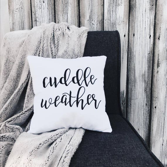 Cuddle Weather Decorative Throw Pillow Calligraphy