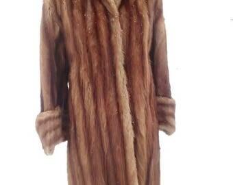 Luxurious Full Length Red Mink Coat