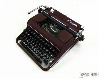 The OLDER the BETTER!!!  Extremly rare burgund OLYMPIA SM1 1950, Olympia typewriter, vintage typewriter, working typewriter, red typewriter
