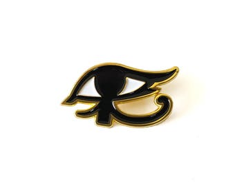 Ana Eye of Ra Brass Enamel Pin