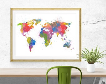 Sidney skyline poster geographic poster sidney watercolor world map poster geographic poster world map watercolor geographical art world geographic posters gumiabroncs Images