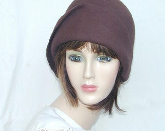Custom Brown handmade vintage cloche without  fascinator