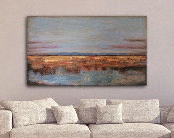 Genial Large Abstract Art, Abstract Wall Art, Large Canvas Art,Large Abstract  Landscape Painting