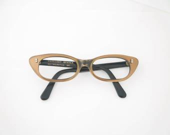 Vintage Beautiful Cats Eye 1950's Eyeglasses / Copper / Margaret