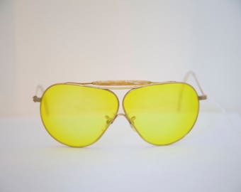 American Optical Ful Vue Gold Filled Aviator Sunglasses Pilots Shooters/1950s with Bakealite bar
