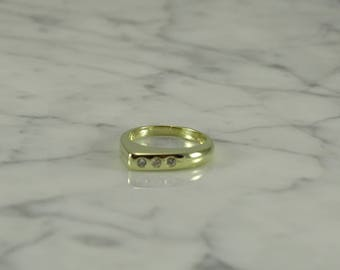 14K Gold / 3 Diamond Ring (size 5.25)