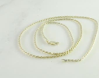 "27"" Sterling Silver Rope Necklace 2.5 mm Milor Italy 925"