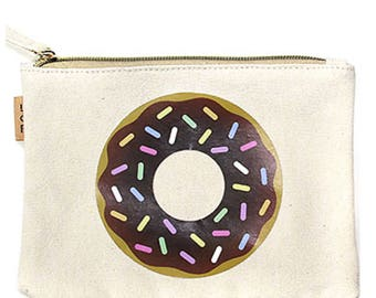 donut make-up pouch, beach bag