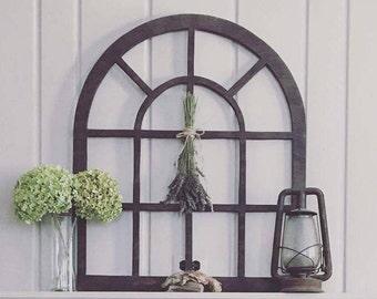 Handmade, Wood, Medium Vintage Inspired Window Frame/ Arch