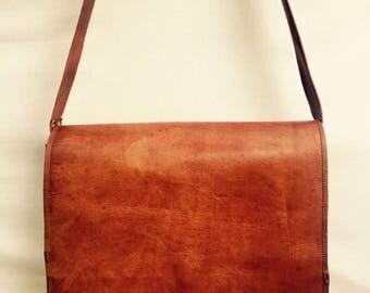 Leather satchel, Leather laptop bag, Leather bag, Men's leather satchel