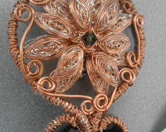 Swaroski Flower Brooch