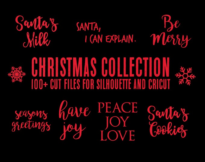 Featured listing image: sale // christmas collection // svg dxf file instant download silhouette cameo cricut clip art