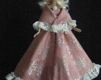 Barbie Ball Gown and Shawl, barbie clothes, barbie doll clothes, barbie dress, barbie doll dress, barbie gown, fashion doll clothes, barbie