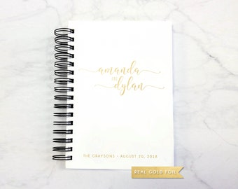 Photobooth Guestbook – Wedding Photo Booth Guest Book with Real Gold Foil