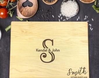 Personalized Cutting Board, Engraved Cutting Board, Custom Cutting Board, Wedding Gift, Housewarming Gift, Christmas Gift, Last Name, B-0021