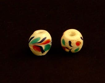 V143- Two antique Venetian floral beads