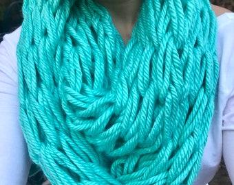 Arm Knit Scarf // Chunky Scarf // Infinity Scarf // Arm Knit Cowl