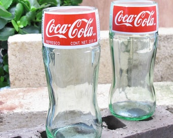 Coca Cola bottle drinking glass set coca-cola glass fun xmas gift unusual gift wife cool christmas gifts uncommon gift meaningful gifts soda