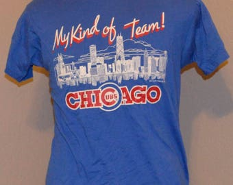 Vintage Chicago Cubs Shirt 80's My Kind of Town Screen Stars L Large Cotton Blend