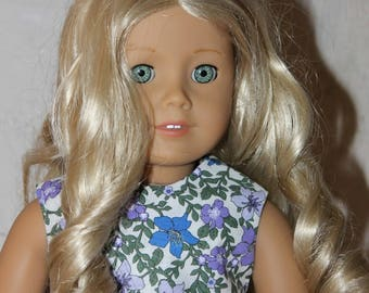 """18"""" American Girl Doll Clothes- Forget Me Not Dress- Fits 18"""" dolls"""