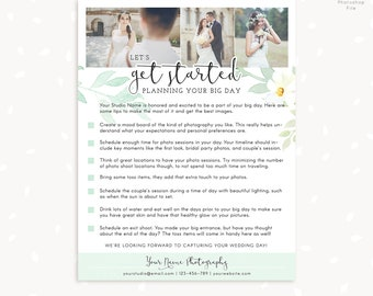 Wedding Photography Checklist for Brides and Grooms, Prep checklist, Preparing for wedding photography, Templates for photographers, Plan